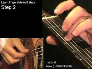 Шаг 2 (fingerstyle за 8 шагов)