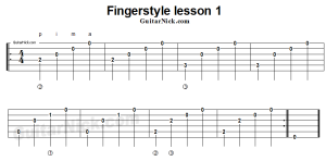 fingerstyle-lesson-1-guitar-tab