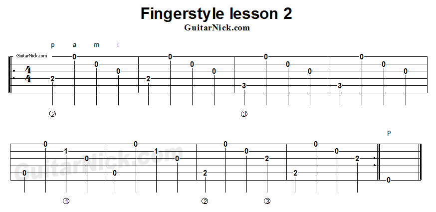 fingerstyle-lesson-2-guitar-tab