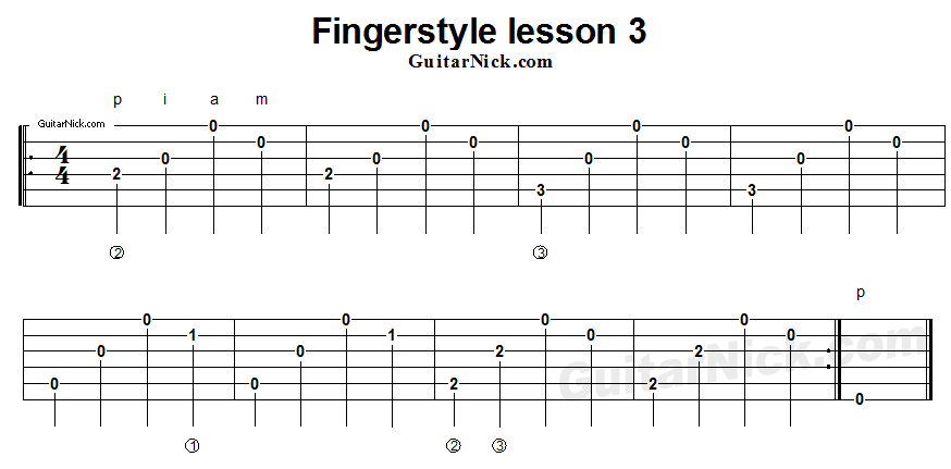 fingerstyle-lesson-3-guitar-tab