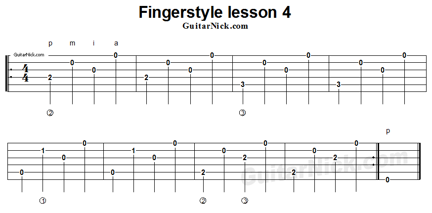 fingerstyle-lesson-4-guitar-tab
