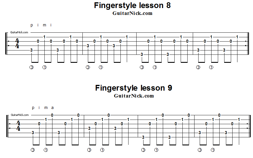 fingerstyle-lesson-8-9-guitar-tab