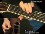 John Hooker — Boom Boom Blues, finger tab