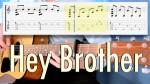 Avicii — Hey Brother, finger tab