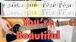 James Blunt — You're Beautiful, finger tab