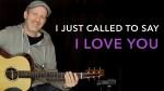 Stevie Wonder — I Just Called to Say I Love You (Adam Rafferty), finger tab