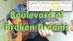 Green Day — Boulevard of Broken Dreams, finger tab