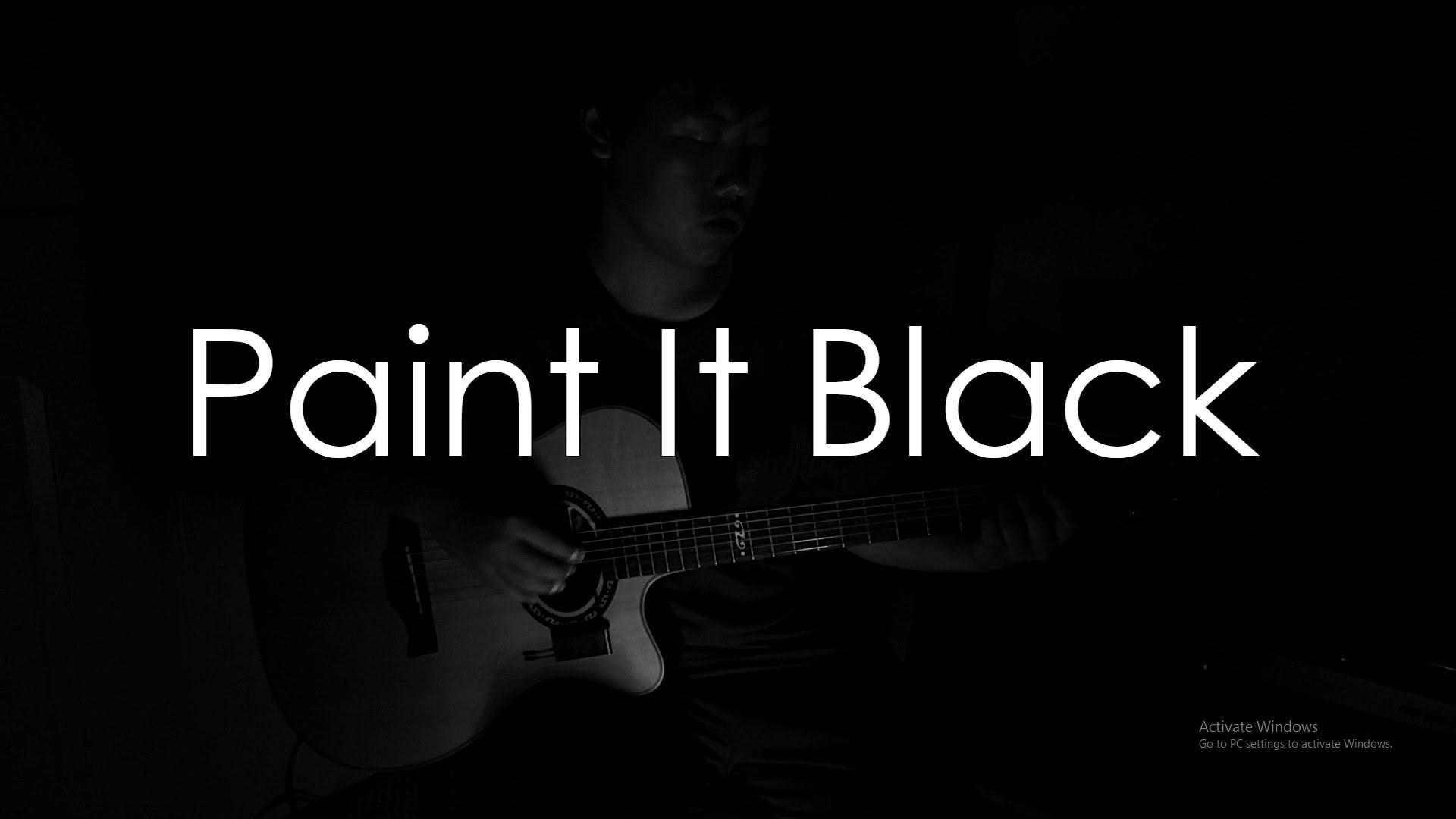 The rolling stones paint it black fingerstyle tabs for The rolling stones paint it black
