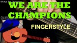 Queen — We Are The Champions, finger tab