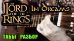 OST The Lord of the Rings — In Dreams (Марина Миракова), finger tab (PDF)
