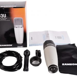 USB микрофон 4800р Samson C01U Pro USB - студийный микрофон для записи гитары, в комплекте сразу шнур и подставка