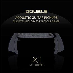 звукосниматель c микрофоном 3500р Double X1 Pro - ТОП звукосниматель со встроенным микрофоном, легкий монтаж на гитару. Звуки ударов (перкуссия) по деке слышны.