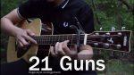 Green Day — 21 Guns (Bogdan Komarichev), finger tab