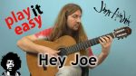 Jimi Hendrix — Hey Joe, finger tab (PDF)