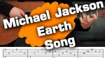 Michael Jackson — Earth Song (Юрий Волков), finger tab (PDF)