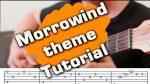 The Elder Scrolls III: Morrowind — Theme Song (Юрий Волков), finger tab