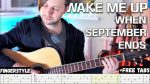 Green Day — Wake Me Up When September Ends, finger tab