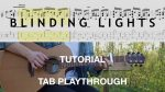 The Weeknd — Blinding Lights (Vadim Kobal), finger tab (PDF)