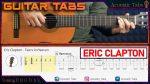 Eric Clapton — Tears In Heaven, finger tab
